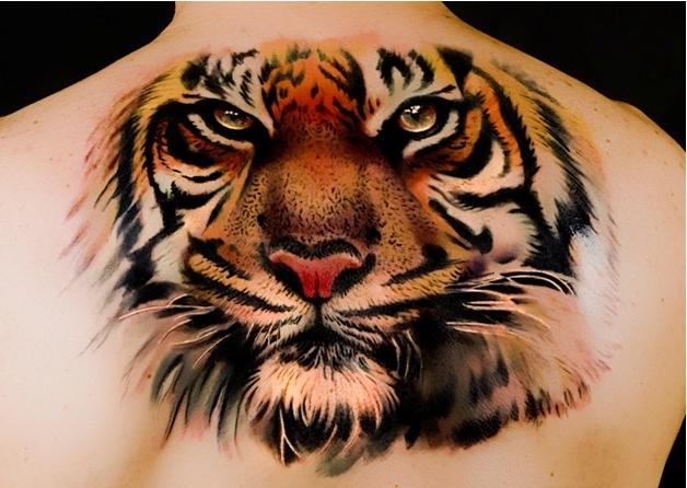 Татуировка тигр у парней