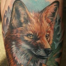 Татуировка лиса у парней