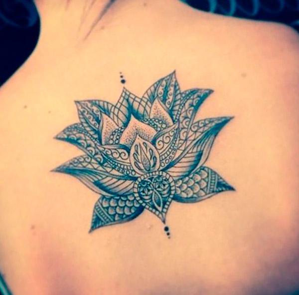 Татуировка цветок лотоса