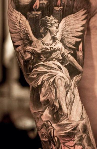 Татуировка ангел у девушек