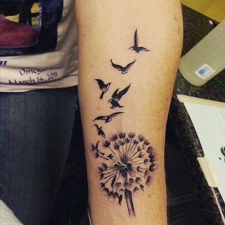 Татуировка одуванчик у парней