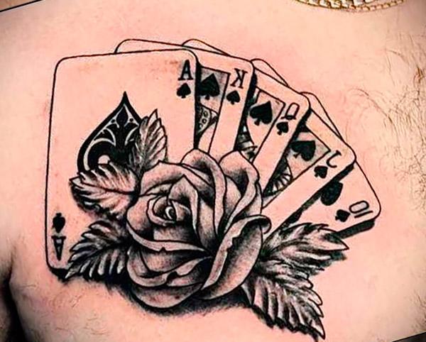 Татуировка карты у мужчин
