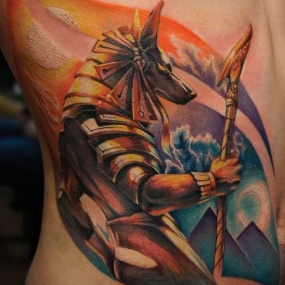 Татуировка Анубис у парней