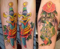 Татуировка кинжал у парней