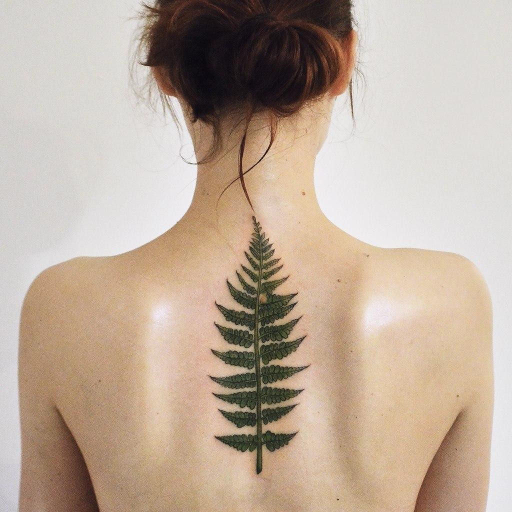 Татуировка папоротник у женщин