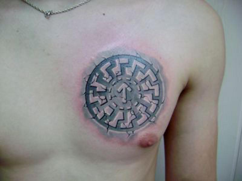 Татуировка коловрат у парней