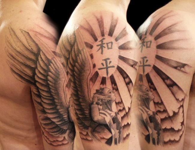 Татуировка солнце у парней