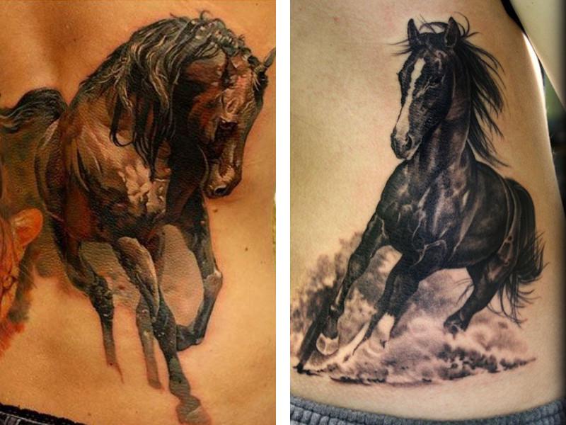 Татуировка лошадь у парней