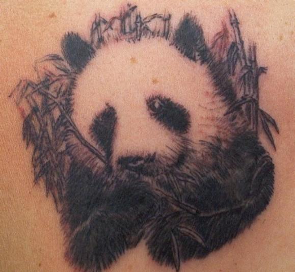 Татуировка панда у парней