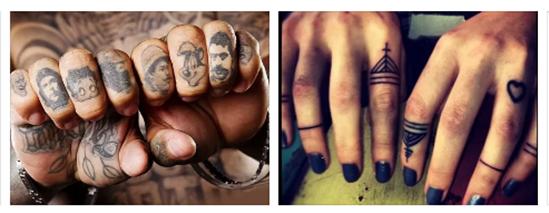 Значение наколок на пальцах рук