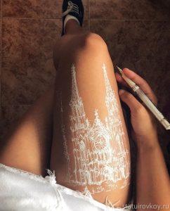 рисунок на ноге
